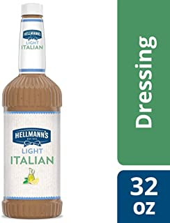 Hellmann's Light Italian Salad Dressing Salad Bar Bottles Gluten Free, No Artificial Flavors or High Fructose Corn Syrup, Colors from Natural Sources, 32 oz, Pack of 6