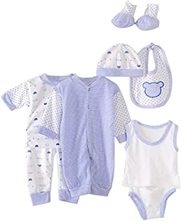 a2fd3f6c5 Per 8 piezas Conjuntos de ropa para bebé Canastilla de algodón Traje de bebé  Regalo para