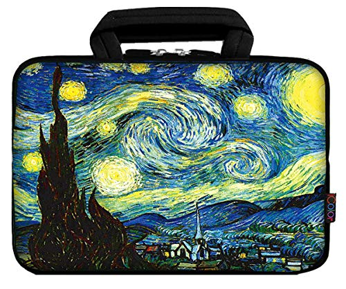 "iColor 9.7"" 8"" Tablet Bag Case 10"" Laptop Sleeve 10.1"" 10.2"" Handbag Carrier eBook Computer PC Netbook Readers Top Handle Protection Carrying Cover Holder-Starry Night"