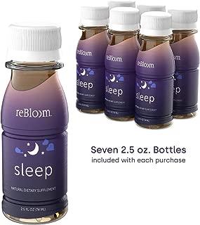REBLOOM Natural Sleep Aid with Melatonin - Proprietary Herbal Formula Drink Supplement & Non Habit Forming Sleeping Pill Alternative - Night Stress Anxiety & Insomnia Relief Sleepy Tea Flavor