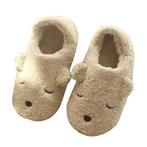 79299574d GaraTia Warm Indoor Slippers for Women Fleece Plush Bedroom Winter Boots