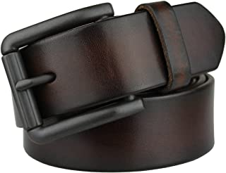 Bullko Men's Genuine Leather Belt Casual Jean Belts for Men