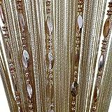 wooden bead door curtain - ZiDeTang Beaded Door Curtain Tassel Divider Color Champagne