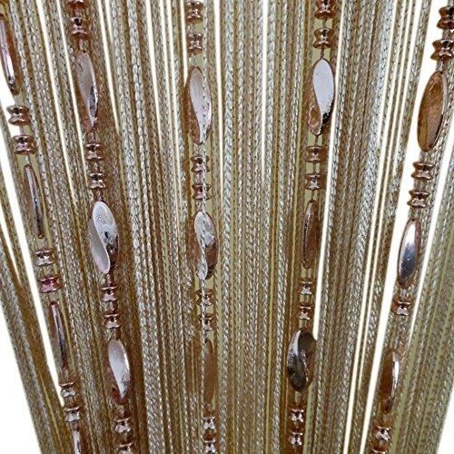 ZiDeTang Beaded Door Curtain Tassel Divider Color Champagne
