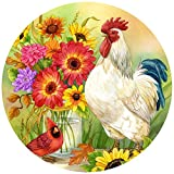 """The Jigsaw Puzzle Factory Jane Maday Rounds Garden Bench, Birds & Flowers Puzzle Games for Adults and Kids Ages 12 and Up, Made in the USA, 300 Piece, Full Size is 24"""" Around"""
