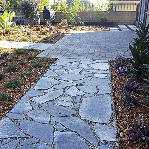 Landscape Patio Flagstone | 1000 Pounds | Natural Rock Pathway Stepping Stone Slabs for Gardens, Terrariums, Landscape Design, Driveway Pavers and Walkway Steppers (Storm Mountain)