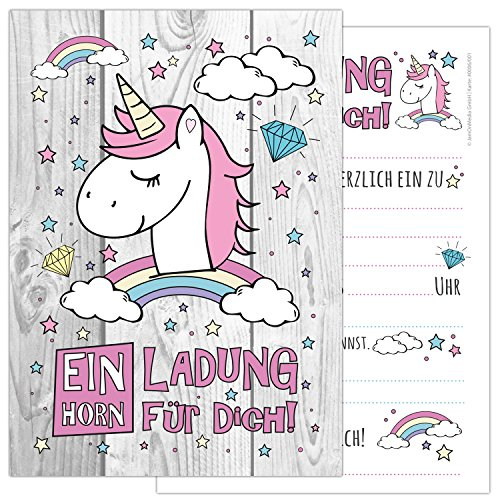 Cool Free Printable Unicorn Birthday Invitation