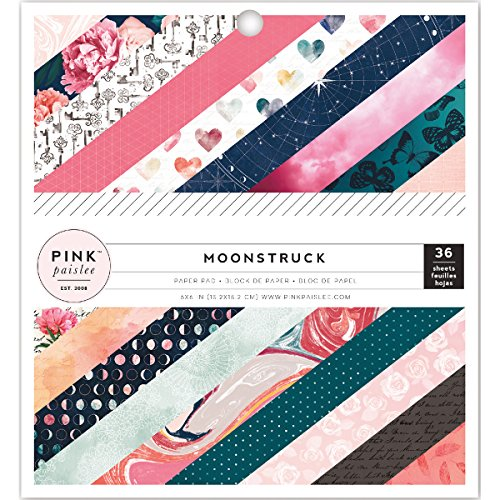 American Crafts Pink Paislee Moonstruck 6 x 6 Inch 36 Sheet Paper Pad