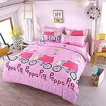 """LuDan 3pcs Kids Children Beddingset Duvet Cover Set Duvet Cover No Comforter Pillowcases Twin Full Queen Pink Pig(Pig, Full,70""""x86)"""
