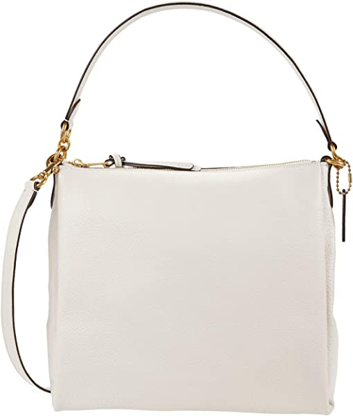 코치 소프트 셰이 숄더백 COACH Soft Pebble Leather Shay Shoulder Bag,B4/Chalk