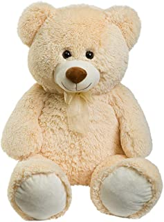 HollyHOME Teddy Bear Plush Giant Teddy Bears Stuffed Animals Teddy Bear Love 36 inch Beige