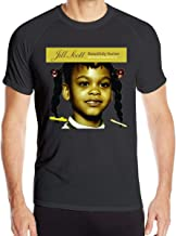 Ceasinng Men's Run No Shrinkage Print with Jill Scott Beautifully Human Words and Sounds Vol Round Neck Quick-Dry Shirts