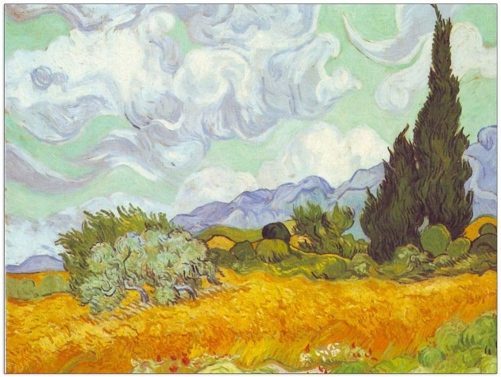 ArtPlaza Van Gogh Vincent - Many popular brands Cornfield Cyprusses Decorative with Max 89% OFF