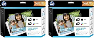 HP 62 | 2 Ink Cartridges | Black, Tri-Color | C2P04AN C2P06AN