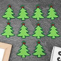 10個のスタイリッシュなステッカー、美しいクリスマスステッカー、クリスマスツリーのためのカラフルなダイニングテーブル装飾アクセサリー家の装飾(Christmas tree)