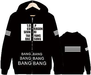 Bigbang Hoodie G-Dragon TOP Sweater Long Sleeve Zip Jacket Pullover
