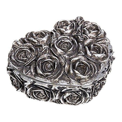 Alchemy Gothic Rose Heart Box (Silber)