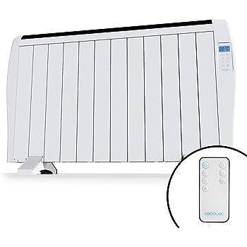 Cecotec Ready Warm 2500 Thermal - Emisor Térmico12 Elementos, 3 Modos de funcionamiento, Temporizador, Mando a Distancia, Pantalla LED, 1800 W
