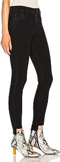 Rocket High-Waisted Hi-Lo Hem Skinny Black Jeans, Ember – 31