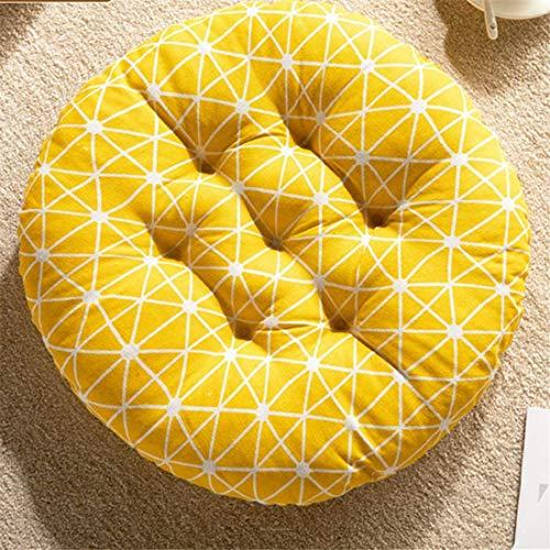 Chickwin Kuddstol, premium vadderade stolkuddar kviltade sittdynor soffa för inomhus- och utomhusbruk tryckavlastande kudde bra som kontorstjockare (40 x 40 cm, gul)