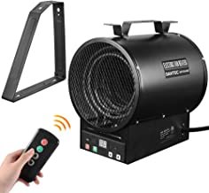 DAHTEC Electric Space Forced Air Heater with Thermostat Remote Control Mounting Bracket 240V 4800W,17000BTU,Large