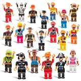20 Mini Toy Figure Toys - Set for Christmas Stocking Stuffers, X-mas Gifts for Kids, Assortment of Boys and Girls Figurines for Birthday Party Gift Favors, Minifigures Stuffer, Xmas Toys Figures.