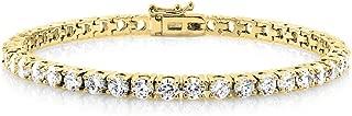 Cate & Chloe Kaylee 18k Tennis Bracelet, Women's 18k Yellow Gold Plated Tennis Bracelet w/Cubic Zirconia Crystals, 7