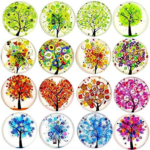 2089/5000 16pcs magneti per frigorifero Tree of Life, adesivi per frigorifero in cristallo, magneti Cosylove Tree of Life per ufficio, armadi, lavagne, foto, calendario, frigorifero decorativo