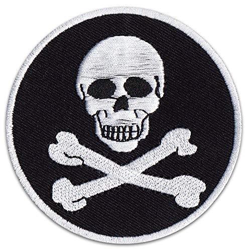 Parche para planchar con diseño de calavera pirata, piratas, Klein