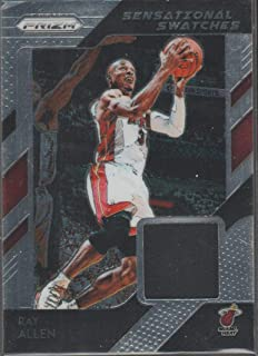 2018-19 Prizm Ray Allen Heat Game Used Jersey Basketball Card #10