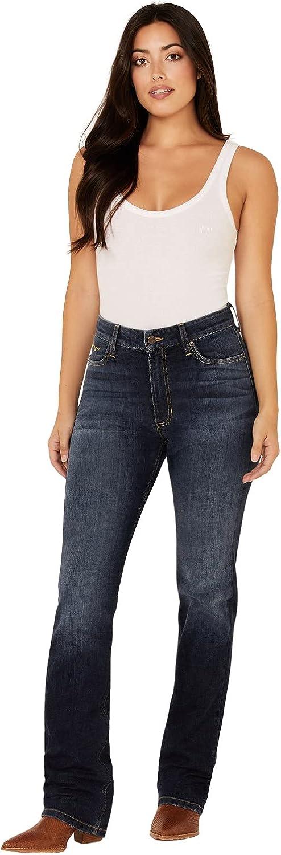 Kimes Cheap mail order specialty store Ranch Women's Dark Wash Sarah x Fashion Jeans Bootcut 0W Slim Blue