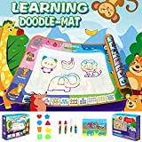 Kids Magic Painting Toys - 2.0 Water Doodle Mat with Preschool Alphabet Words Learning, Toddler Educational Toys/Gifts for Children Age 3 4 5 6 7 8 Years (Eco-Friendly, No Mess, Multi-Accessories)