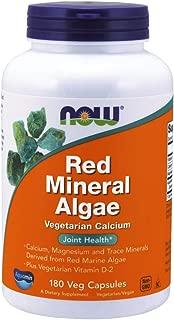 NOW Foods - 红色矿物海藻素食主义者钙 - 180 素食胶囊