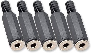 Besmelody 5-Pack 3.5mm Female Socket Repair Headphone Earphone 3 Pole TRS Jack Stereo Audio Plug Connector Soldering