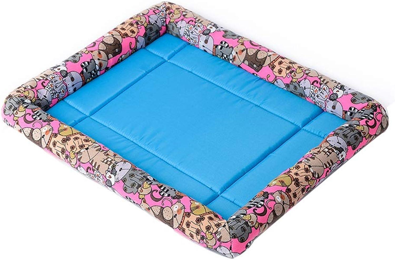 Pet house Pet Mattress, Kennel Soft Cushion Suitable For All Seasons 4 colors 3 Size (color   C, Size   L)