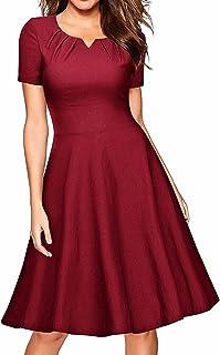 فساتين Samtree للنساء، فستان قصير الأكمام على شكل حرف A لحفلات الكوكتيل المتأرجحة