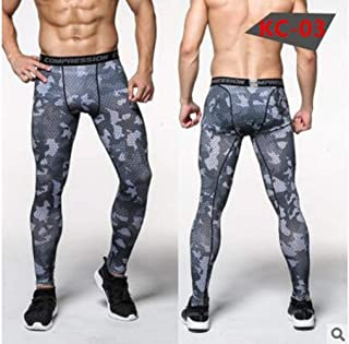 Men Running Tights Pro Compress Yoga Pants Gym Exercise Fitness Leggings Workout Basketball Exercise Train Sports Clothing Running Tights 