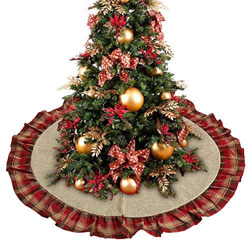 Surfmall Weihnachtsbaumdecke Weihnachtsdeko Tannenbaum Decke Christmas Tree Skirt Baumdecke Baumteppich 122cm