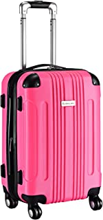 Goplus Carry On Luggage 20-inch ABS Expandable Hardside Travel Bag Trolley Suitcase GLOBALWAY (Rose)