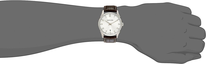 Hamilton Mens H38511553 Jazzmaster Thinline Silver Dial Watch