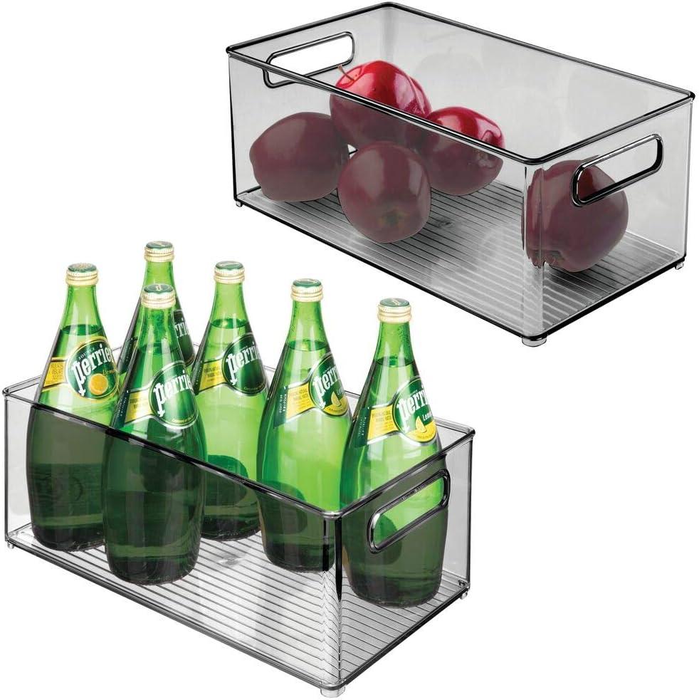 mDesign Deep Plastic Kitchen Storage Bin Max 69% OFF Container Cheap SALE Start Organizer wit