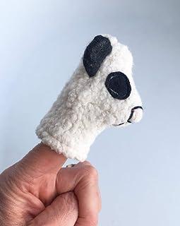 Organic Panda Bear Finger Puppet Ecoleeko Toy
