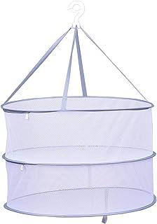 物干しネット 2段フェンス式 平干しネット 折りたたみ式 洗濯干しネット 防風・防塵・ 防蚊虫ニットセーターぬいぐるみ平干し型崩れ防止 (グレー)