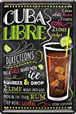 Cuba Libre Cocktail Rezept 20 x 30 cm Haus Bar Party Keller