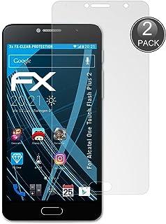 E-Hamii [2-pack Alcatel Flash Plus 2 skärmskydd, 0,26 mm HD reptålig och anti-fingeravtryck skyddar film, 9H härdat glas s...