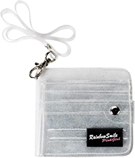 Clear Jelly Wallet Transparent Bifold Neck Lanyard Wallets for Photocards