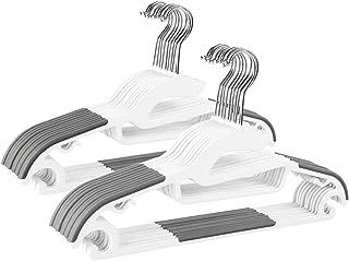 LEEPWEI ハンガー 20本組 洗濯ハンガー 衣類ハンガー すべらない 360度回転式 滑り止め 変形にくい 収納 hanger スーツ スリム 多機能 乾湿両用