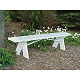 72 in. L x 11 in. W x 16 in. H 6 ft. White Vinyl Patio Bench