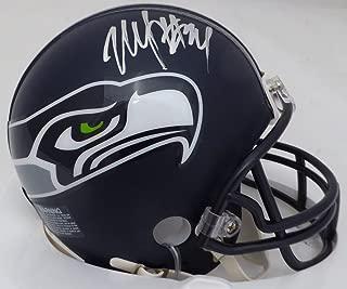 marshawn lynch autographed mini helmet