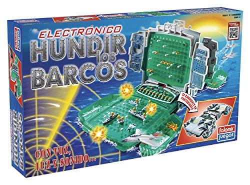Falomir Hundir los Barcos Electrónico. Juego de Mesa. Clásico. (32-22004)